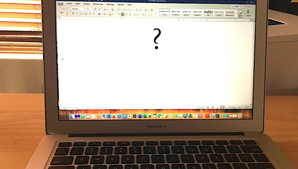 Empty page with question mark