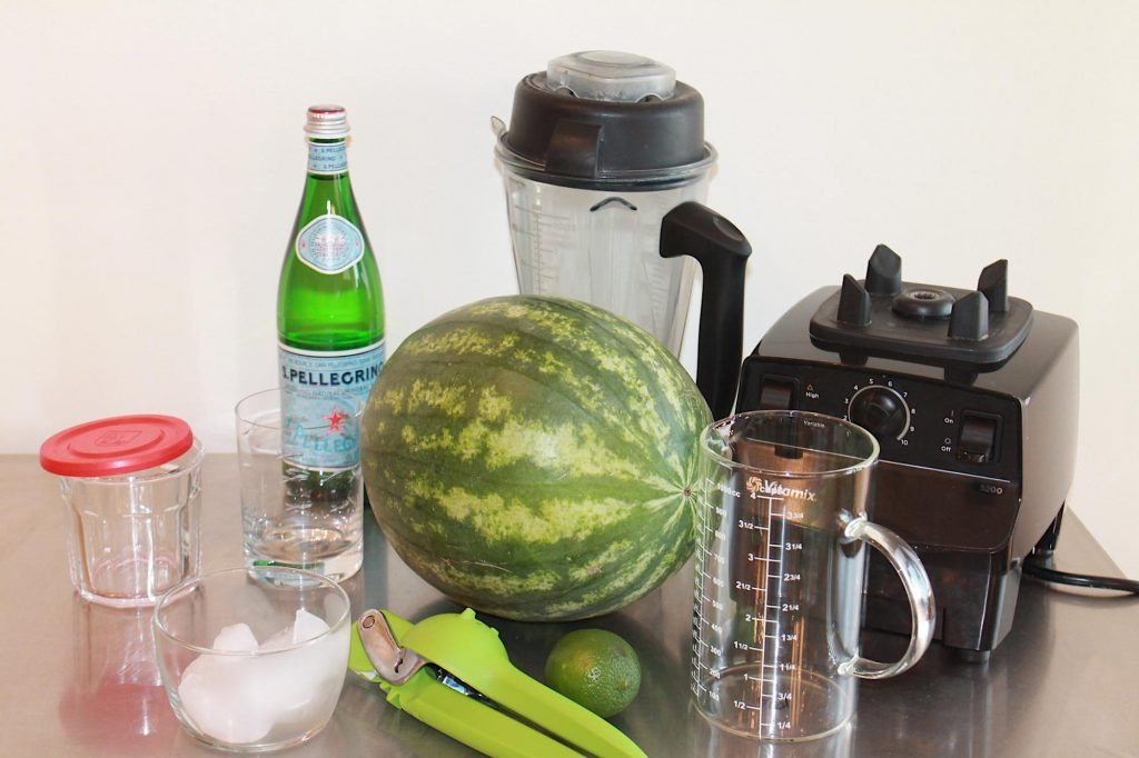 Watermelon Agua Fresca prep