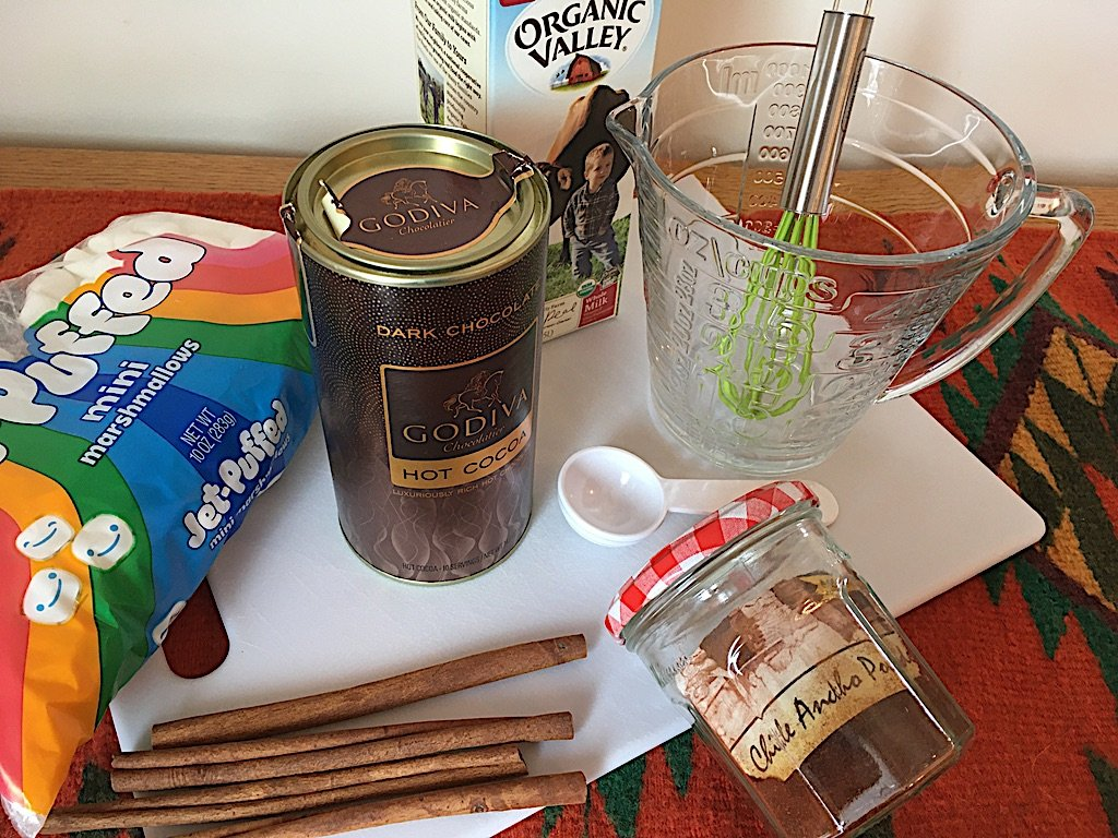 Spiced Hot Chocolate Setup